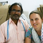 Working with Masterji on patterns during summer production, Jaipur 2011